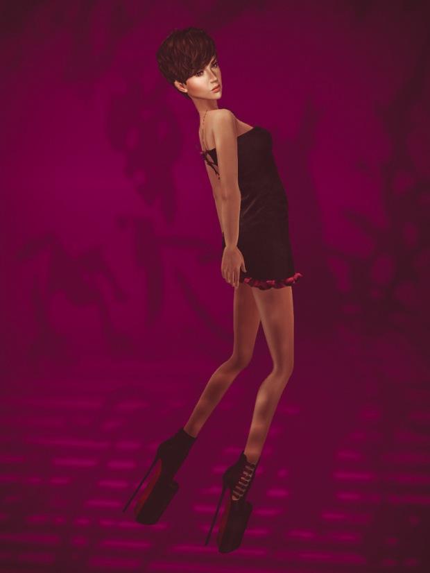 The girl who had very high heels