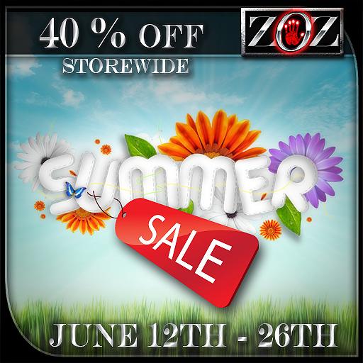 -{ZOZ}- 40 % off sale Announcement